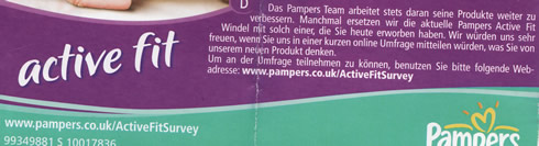 Pampers-beipackzettel
