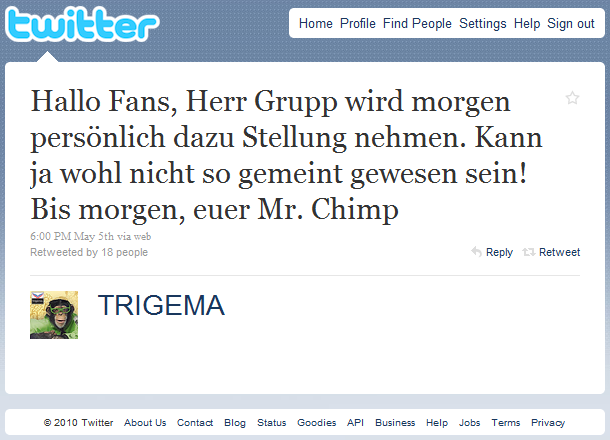 Trigema Twitter