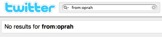 Oprah twitter search fail