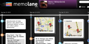 So sieht Memolane aus - Die Onlinegeschichte breitet sich wie ein Panorama aus