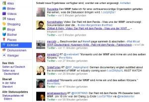 WWF am Samstag auf Twitter