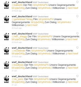 Twitter-Antworten des WWF