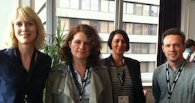 von links: Inga Clausen, Christiane Becker, Susanne Lämmer, Roger W. Fienhold Sheen