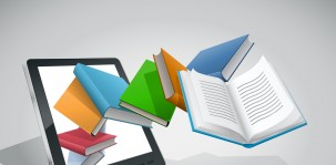 bigstock_E-book_reader_and_books_Vecto_30189524