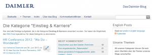 Daimler Blog Karriere