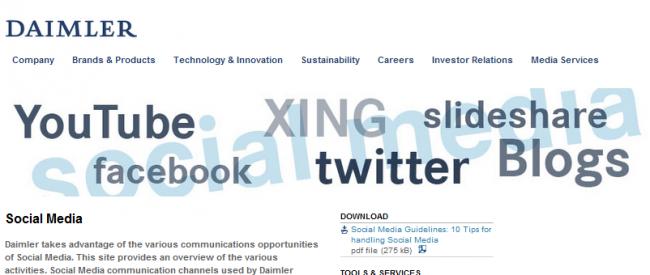 Daimler Social Media