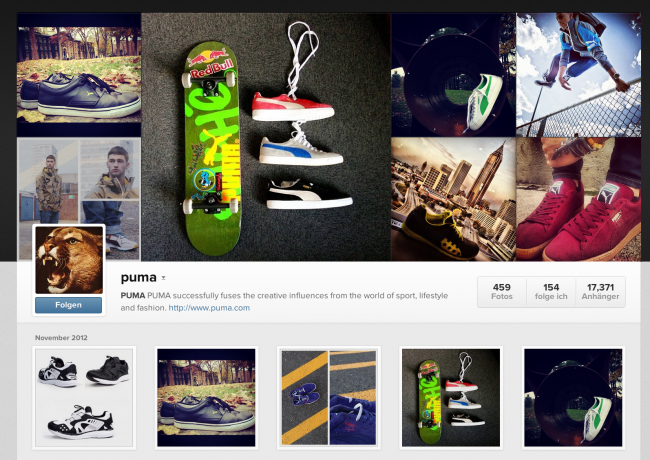 puma auf instagram