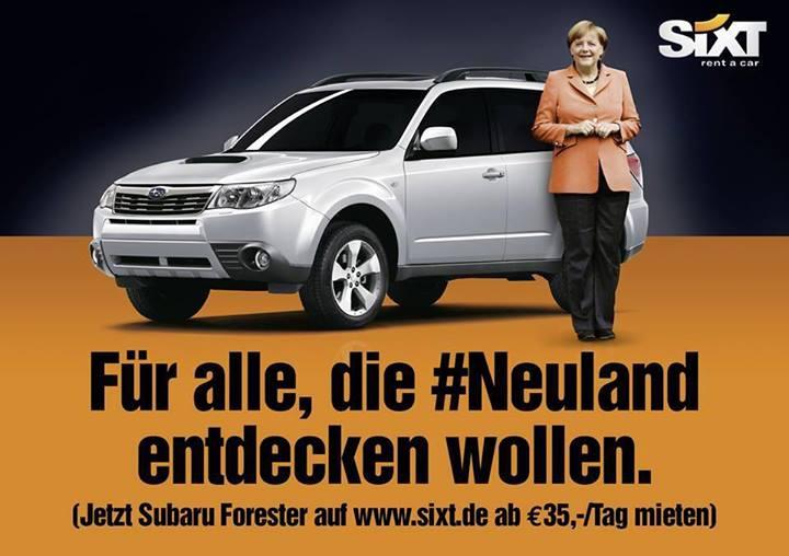 Für alle, die #Neuland entdecken wollen - SIXT Kampagne