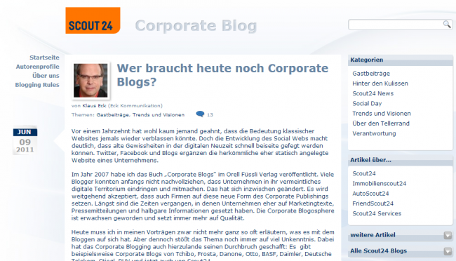 Scout24 Corporate Blog