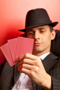 Pokerface Mensch