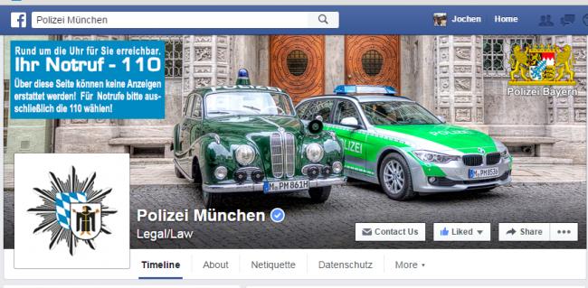 Facebook Header Polizei München