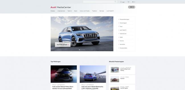 Audi MediaCenter: weit mehr als klassische Pressemitteilungen