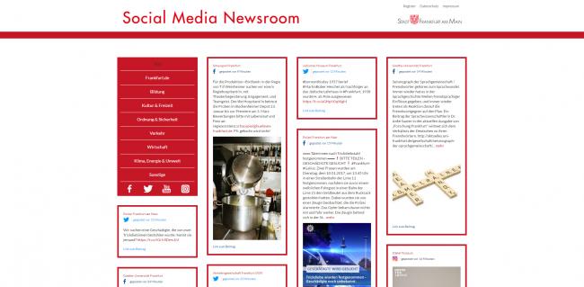 Die Stadt Frankfurt setzt auf eigenen Content in ihrem Social Media Newsroom