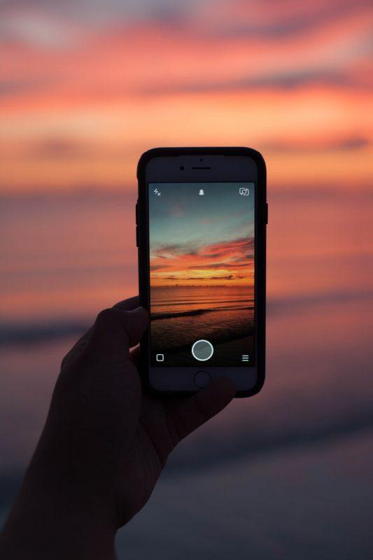 Snapchat zum Sonnenuntergang