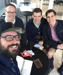 Die Gründer der Bits & Pretzels Bernd, Felix und Andreas im PR-Blogger-Interview mit Jochen