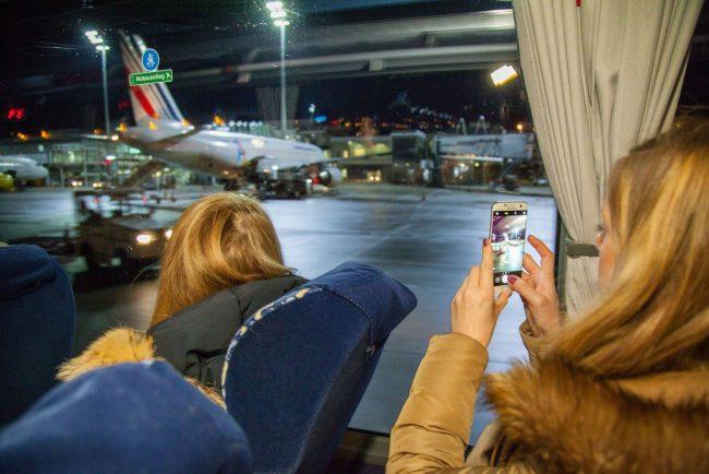 Lichterfahrt am Flughafen München. Bild: Flughafen München.