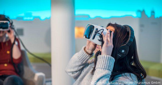 VR-Brille Digital Schowroom der Thüringer Tourismus GmbH
