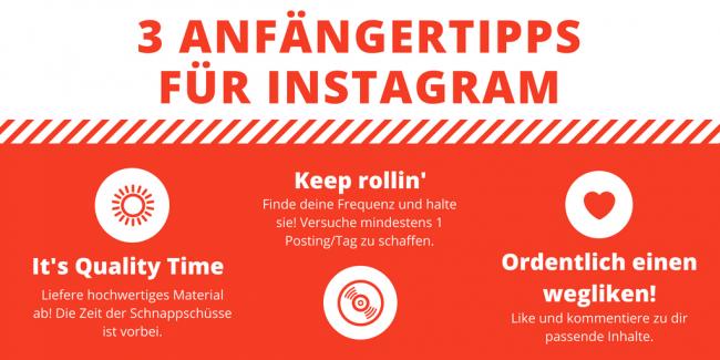 Grafik 3 Anfängertipps für Instagram