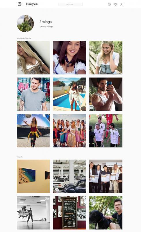 Instagram Suche minga