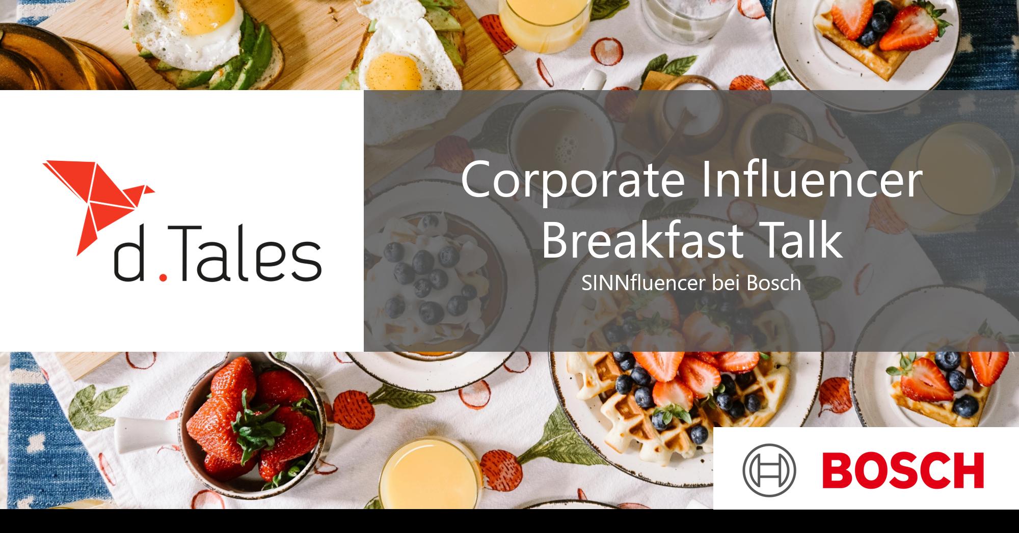 Corporate Influencer Breakfast Bosch